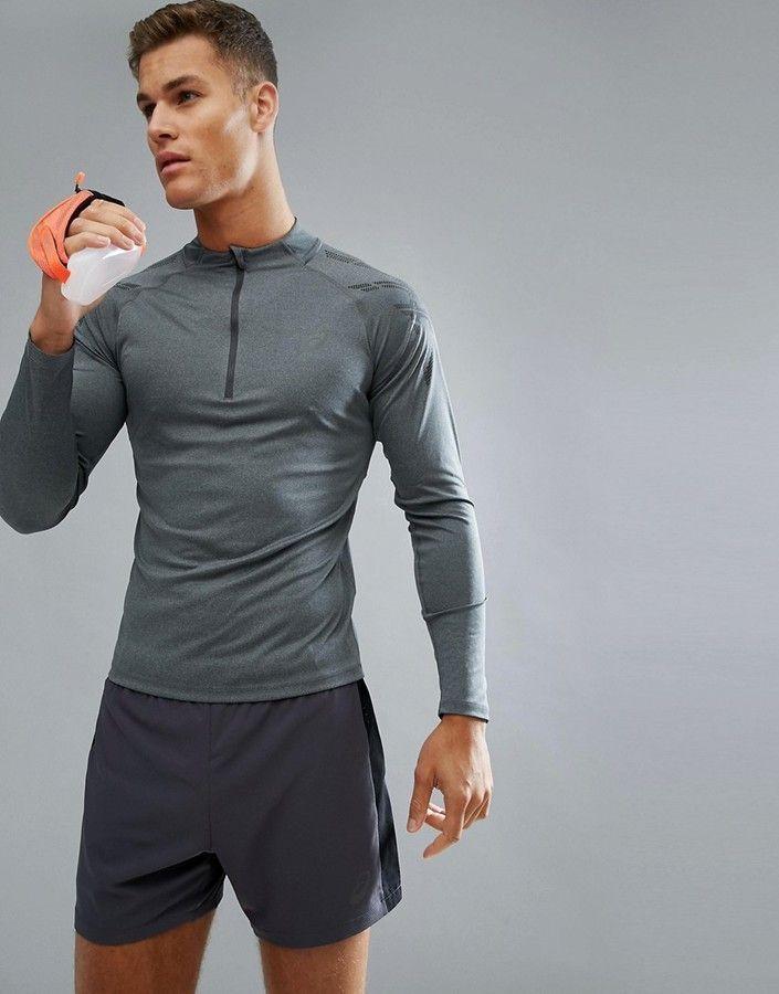 Asics Running Half Zip Sweat top, Men's running shirt, long
