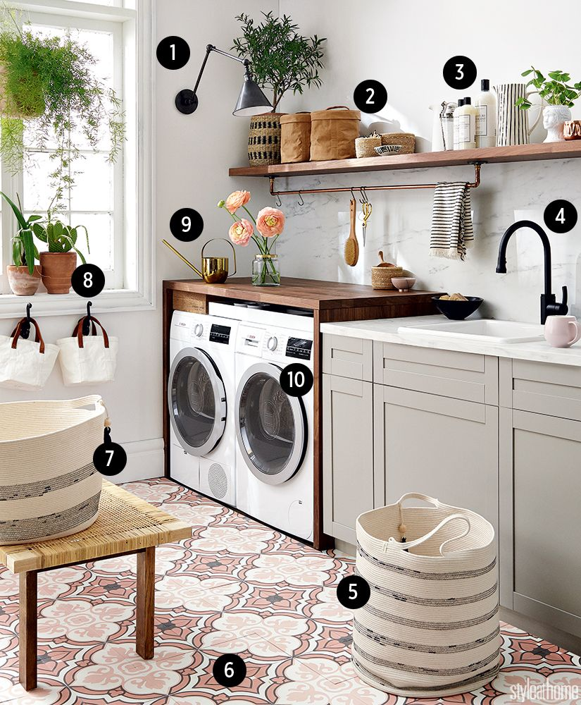 Hartland Kitchen And Laundry Room Remodel: High/Low: Clean & Simple Laundry Room In 2019
