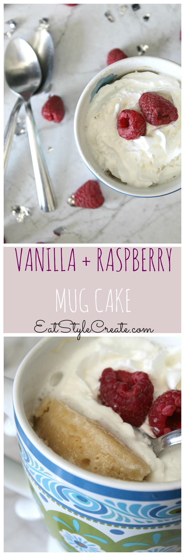 Vanilla raspberry mug cake | Recipe | Mug cake, Raspberry ...
