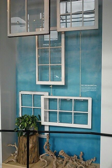 Using old window frames as decoration