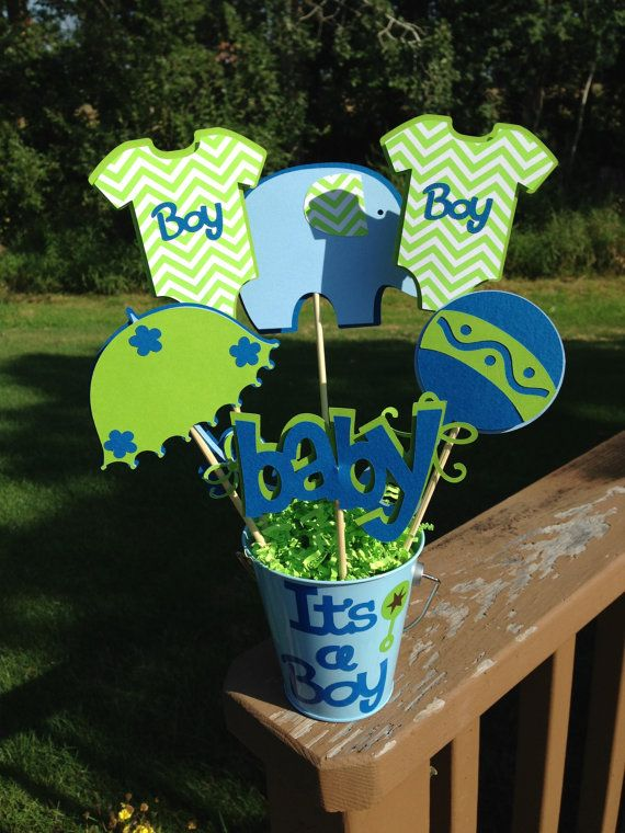 Baby Shower Table Decoration Centerpiece It S A Boy Elephant And