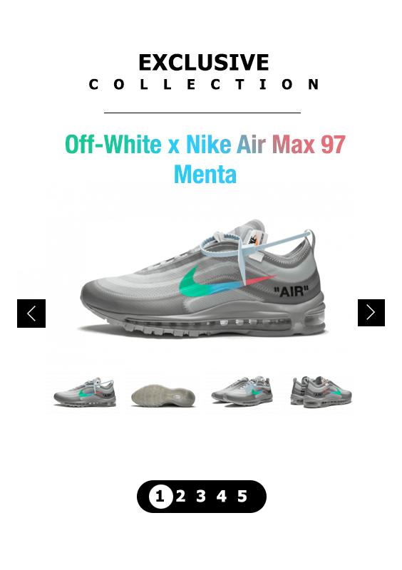 OffWhite x Nike Air Max 97 Menta Fashion Exclusive Nike