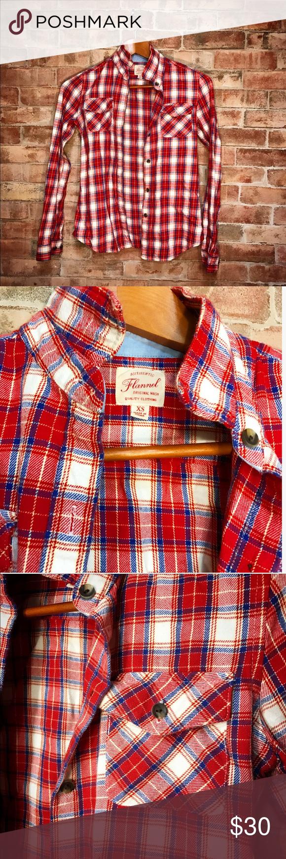 Uniqlo flannel jacket  UNIQLO Red and White Classic Flannel  Uniqlo Flannels and
