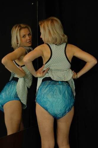 Plastic-Pants-PVC-Adult-Baby-Diapers-ABDL-DDLG-BLUE-DIAPER ...