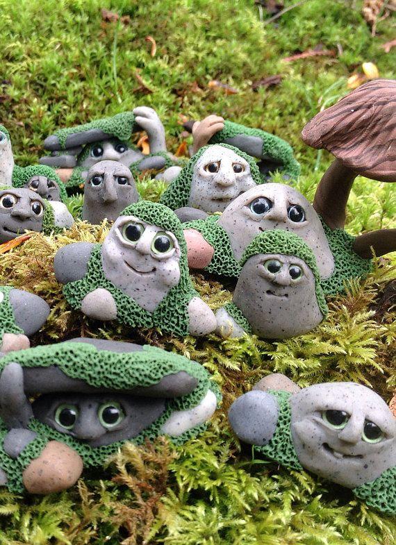 Gnome In Garden: Fairy Garden Gnomes Rock Trolls For Miniature Fairy Garden