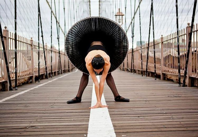It's #TutuTuesday! What better way to celebrate than with an image by @lisatomasetti on the Brooklyn Bridge in #NYC back in 2012 featuring @amyharris_7 ♥ An exhibition of Lisa's incredible images is currently on in #Sydney at @mcontemporary. Don't miss it!