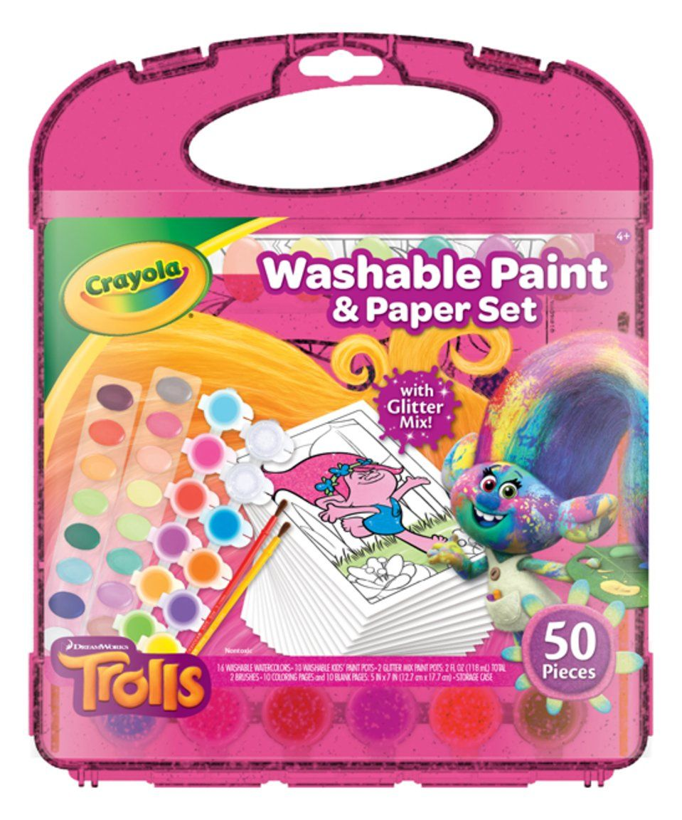 Take a look at this Washable Paint and Paper Set, Trolls