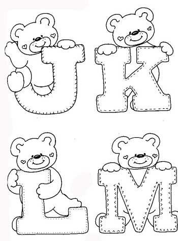 Desenhos Alfabeto Ursinhos Enfeite Sala De Aula Infantil 3