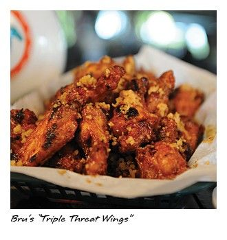 "Bru\'s ""Triple Threat Wings"" from Bob Brudzinski\'s Bru\'s Room Sports ..."