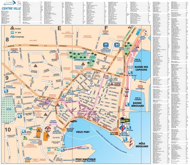 La Ciotat city center map Maps Pinterest City and France