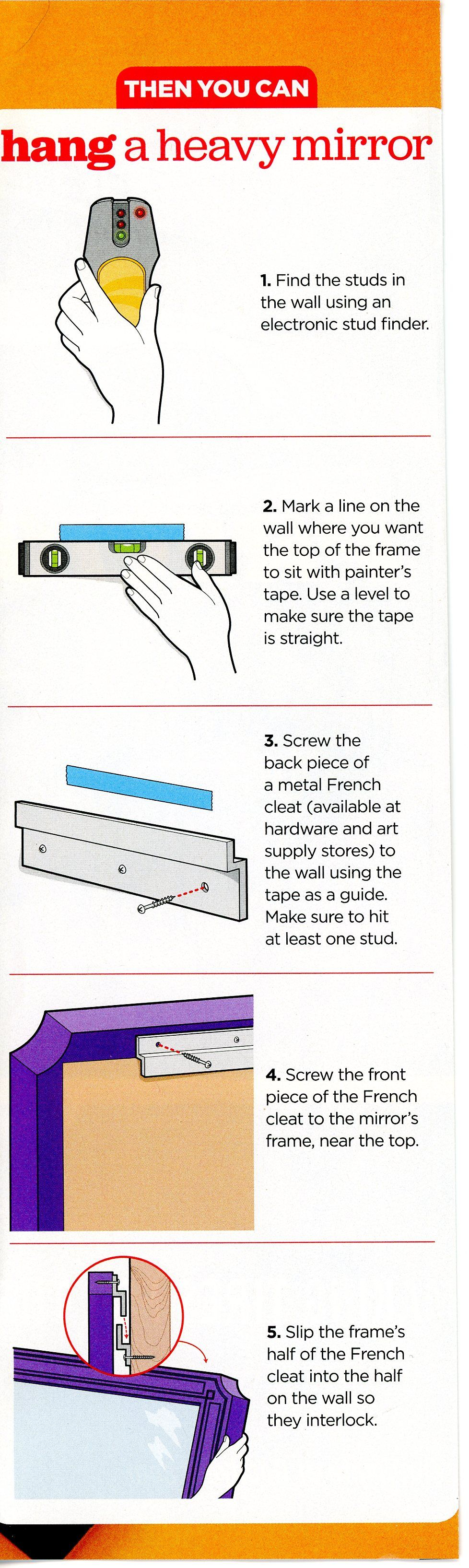 How To Hang A Heavy Mirror Hanging Heavy Mirror Hanging Mirror