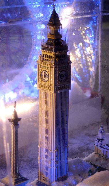 London in a snow globe