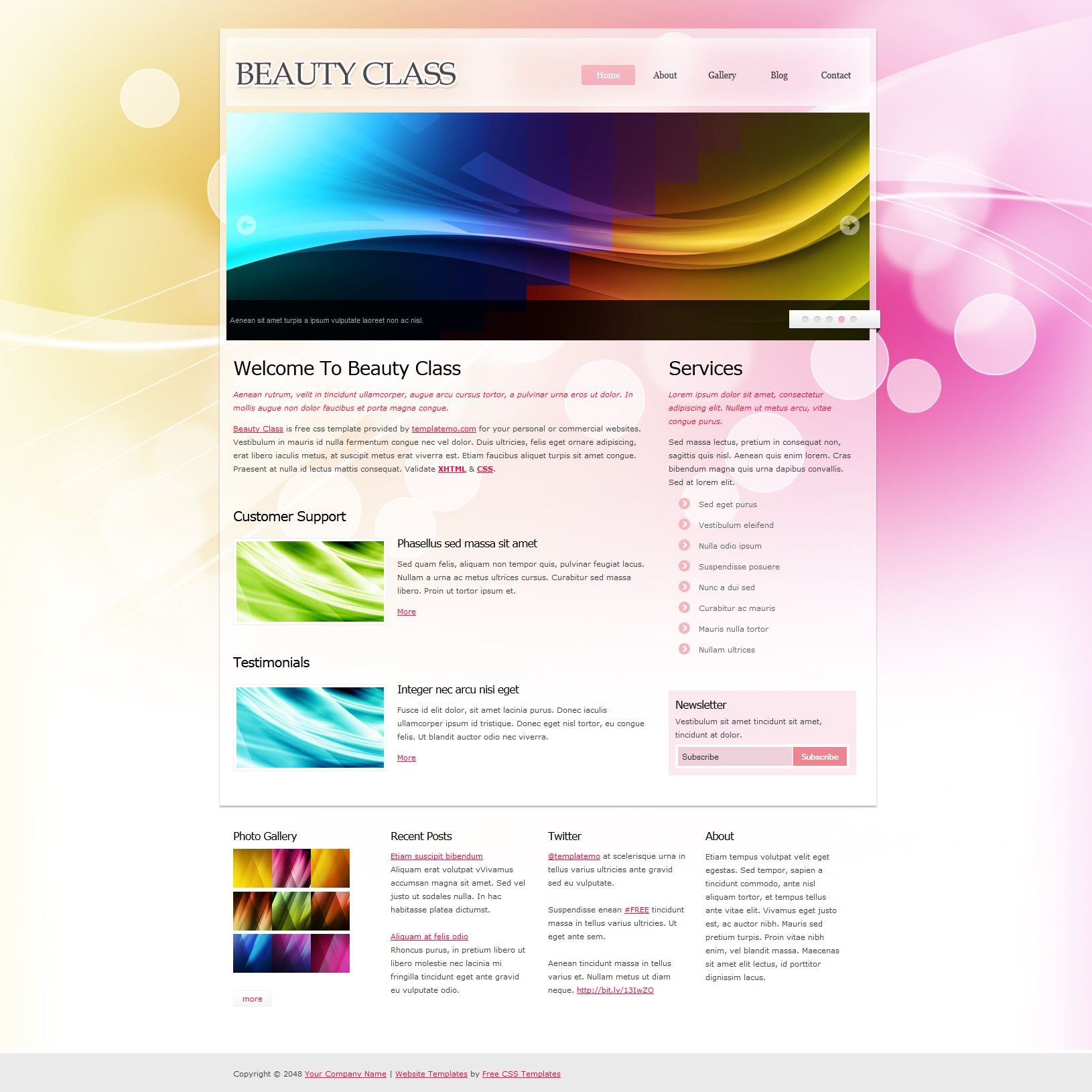 Free css template 353 beauty class free html website templates free css template 353 beauty class pronofoot35fo Gallery