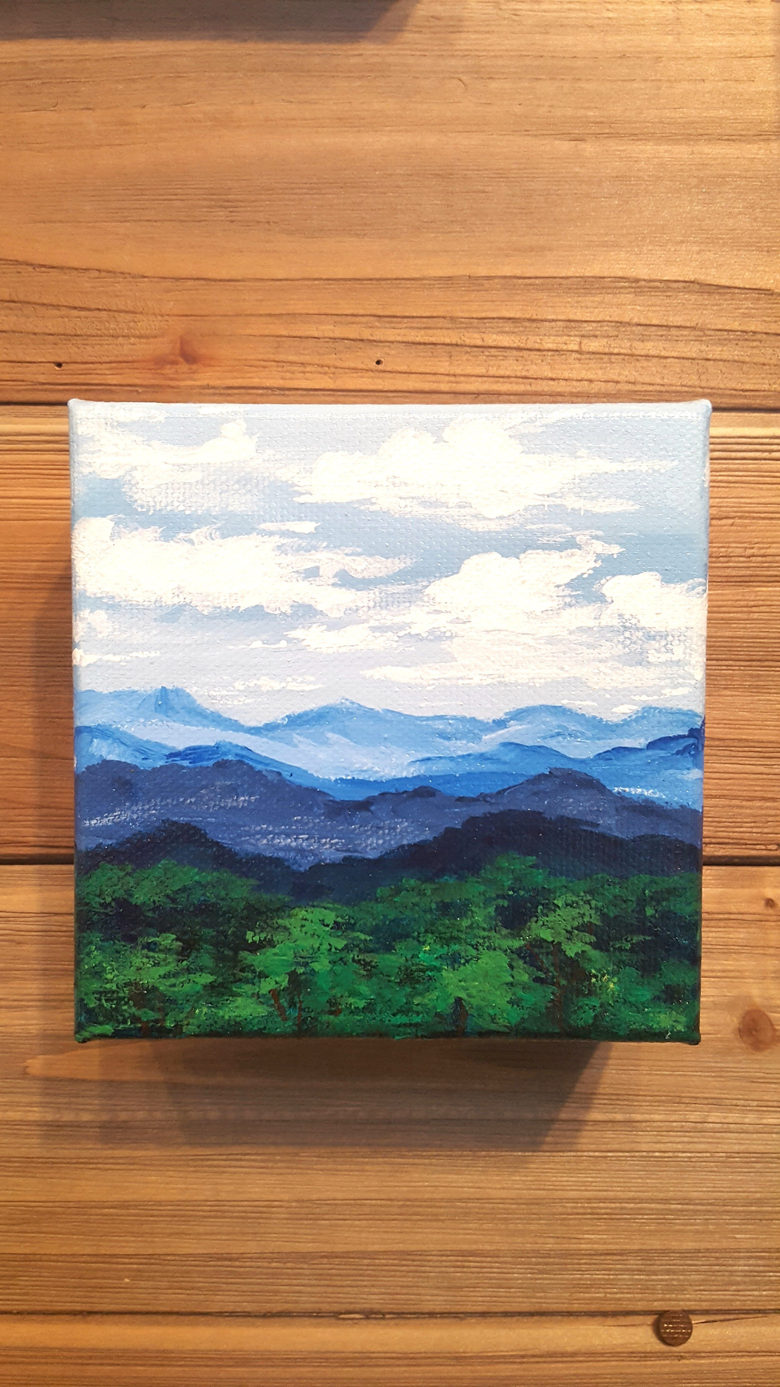 On The Road To Blowing Rock Original Painting In 2020 Small Canvas Art Cute Canvas Paintings Canvas Painting