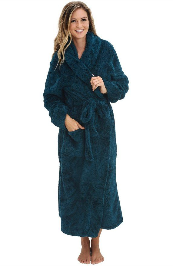 del rossa women's fleece robe, long plush hooded bathrobe, 1x 2x