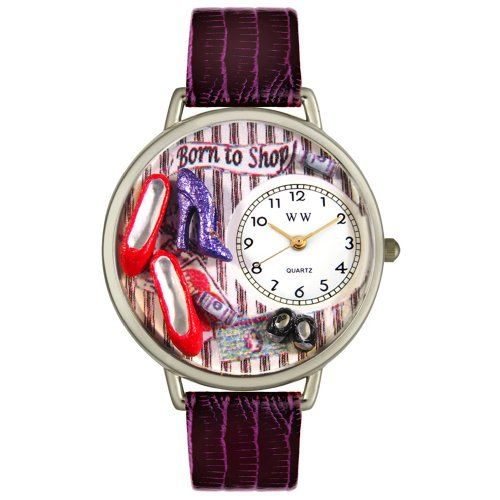 Whimsical Watches Unisex U1010005 Shoe Shopper Purple Leather Watch - Listing price: $59.95 Now: $38.04 + Free Shipping