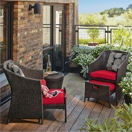 Threshold Loft 5 Piece Wicker Patio Conversation Furniture Set