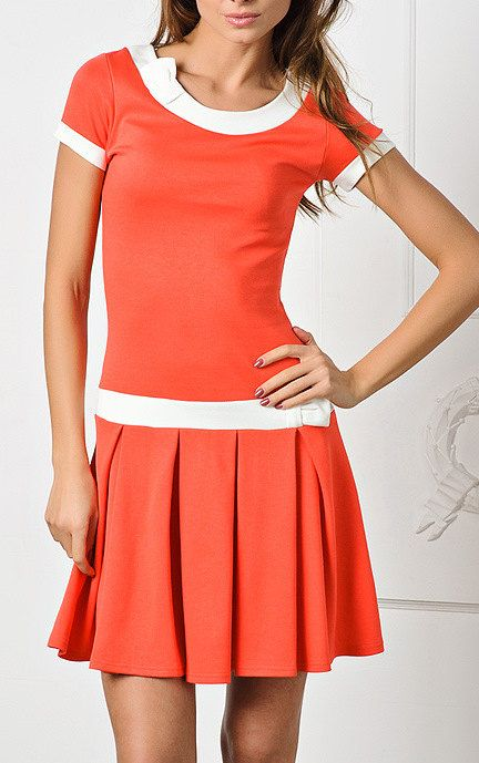 Summer dress. orange. short skirt with pleats | The andy griffith ...