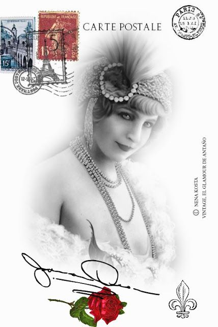 VINTAGE, EL GLAMOUR DE ANTAÑO MIS DISEÑOS VINTAGE Lina Cavalieri - diseos vintage
