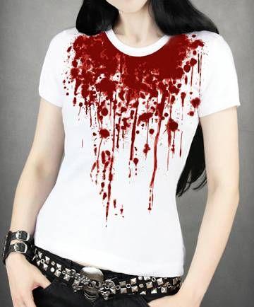 Camiseta Chica MC Splash of Blood