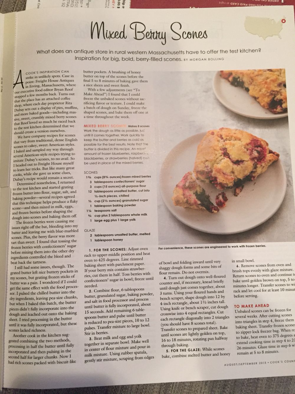 Country Test Kitchen Recipes Mixed Berry Scones Cooks Country Recipe Collection Pinterest
