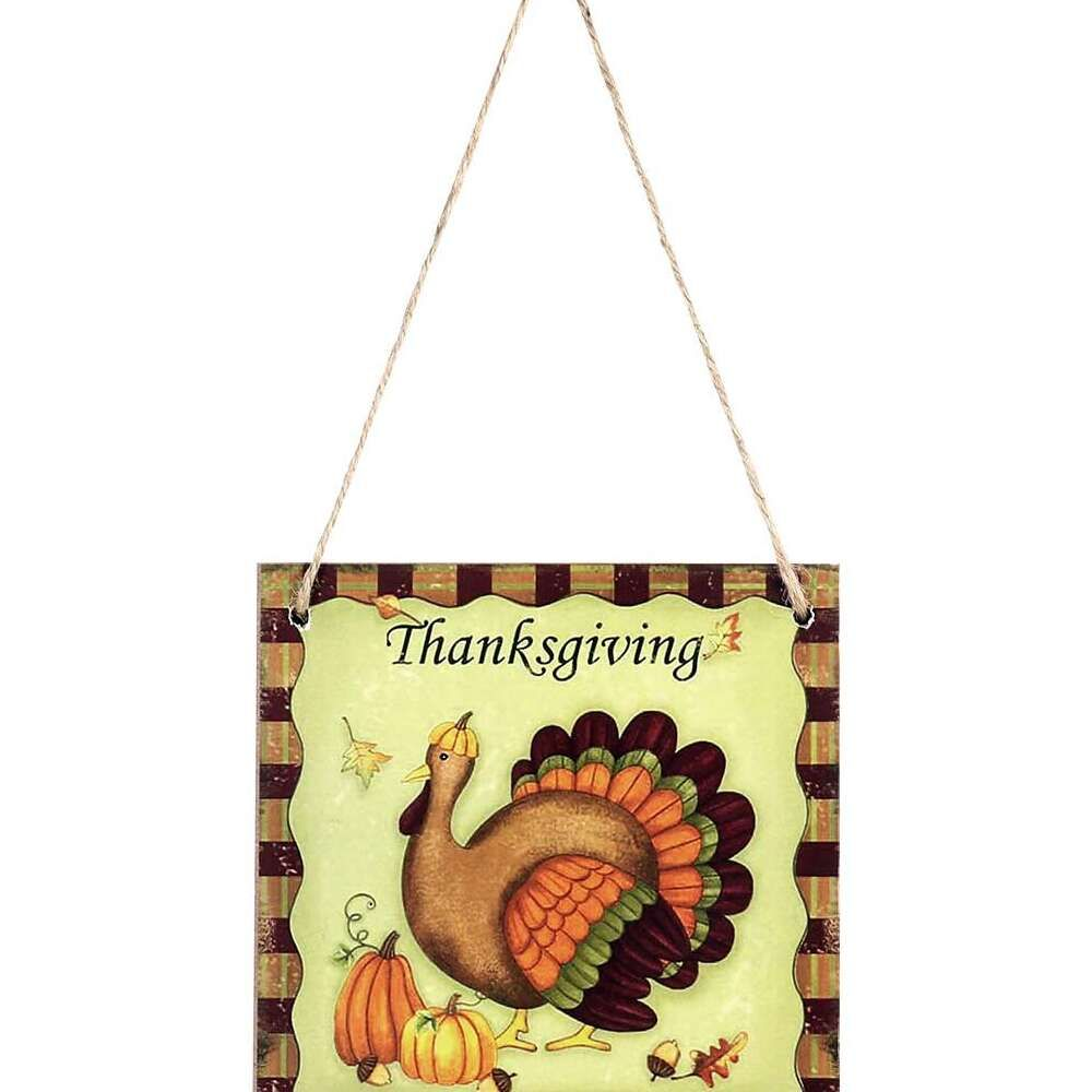 ALmi Thanksgiving Hanging Wooden Plaque Sign Thanksgiving …
