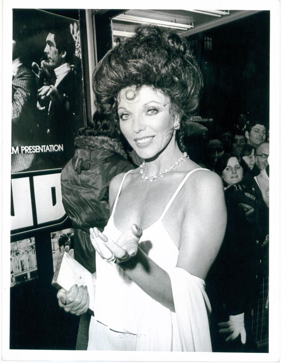 Joan Collins At The Stud Premiere