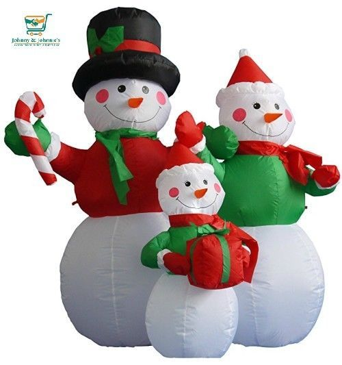 Inflatable Christmas Outdoor Decor Snowman\u0027s Family Outdoor decor