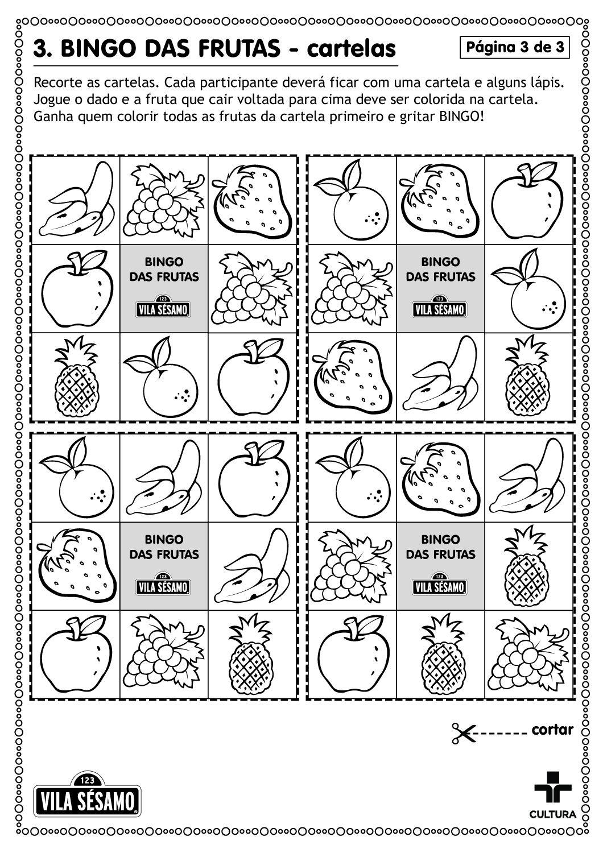 Bingo Das Frutas Vila Sesamo No Ar Cmais O Portal De Conteudo