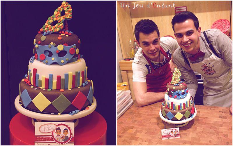 gateau carnaval - Carnaval cake par un-jeu-d-enfant.fr
