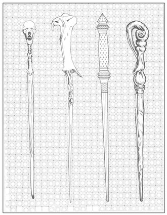 Wands For Spine Of Harry Potter Rebinds Harry Potter Coloring Book Potter Coloring Books