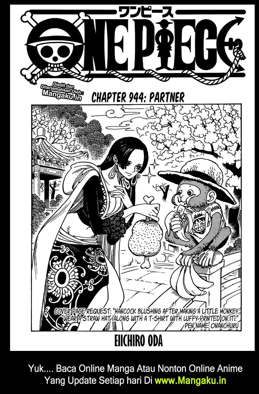 komik One Piece 944 bahasa indonesia ワンピース 扉絵, アニメ, アニメの女の子
