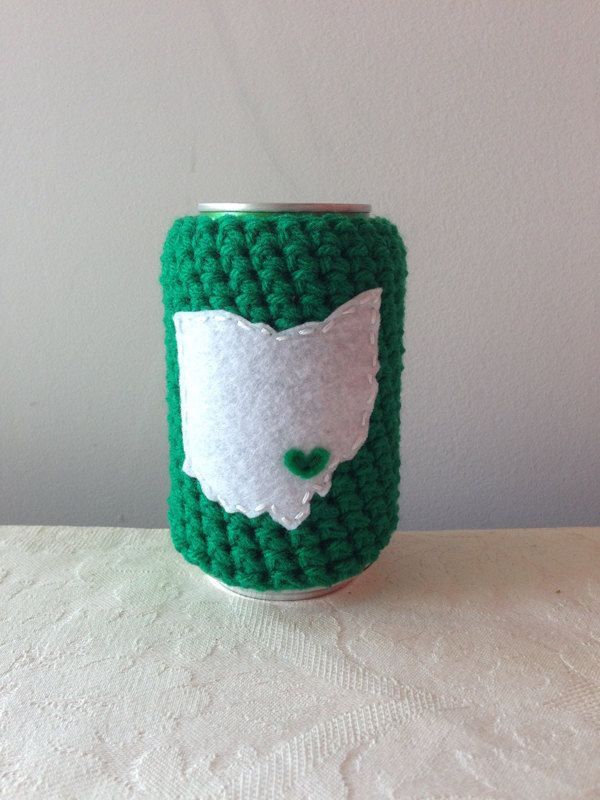 Ou Ohio University Athens Ohio Crochet Beer Cozy Coffee Cup Cozy