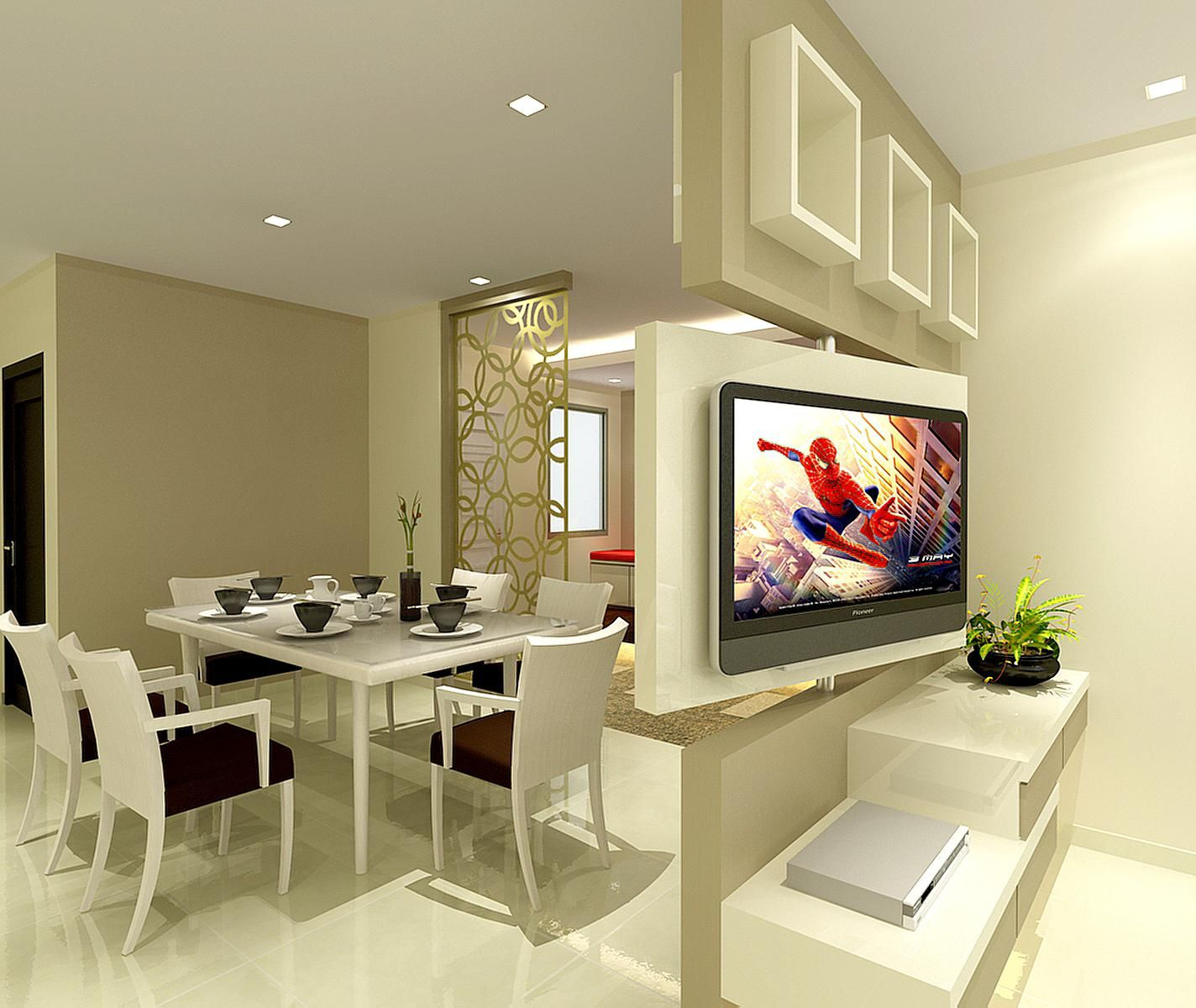 Livingdining degrees rotatable tv feature wall that allows the