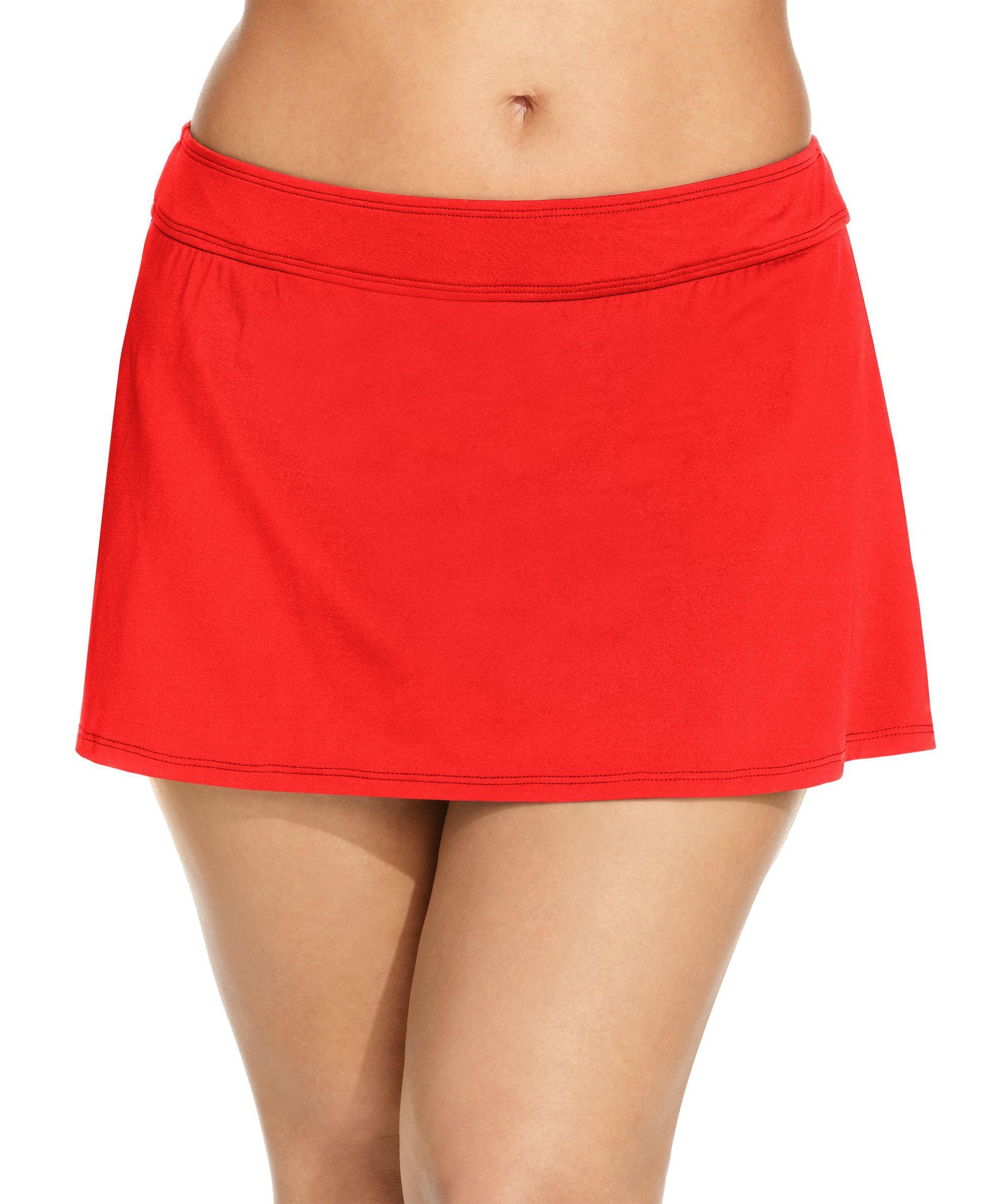 17b97985f8c Anne Cole Plus Size Swim Skirt | Products | Swim skirt, Plus size ...