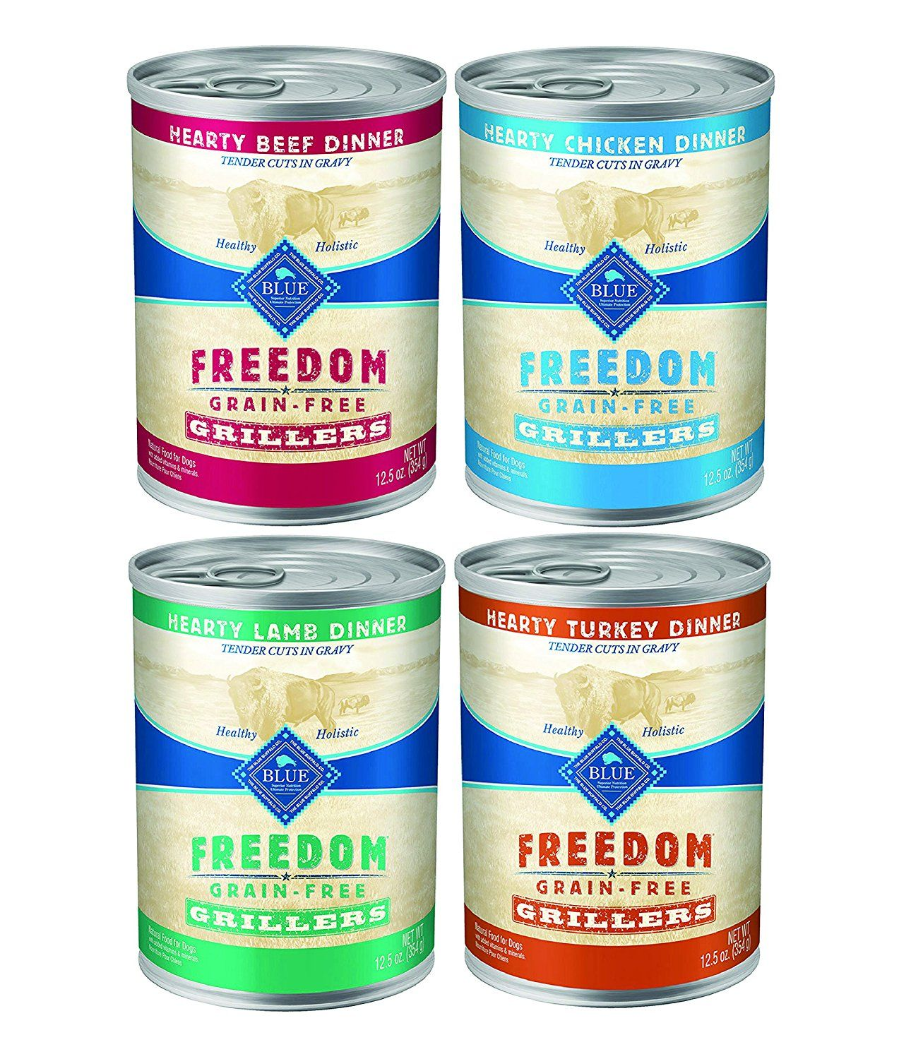 Blue buffalo blue freedom grillers canned dog food mixed