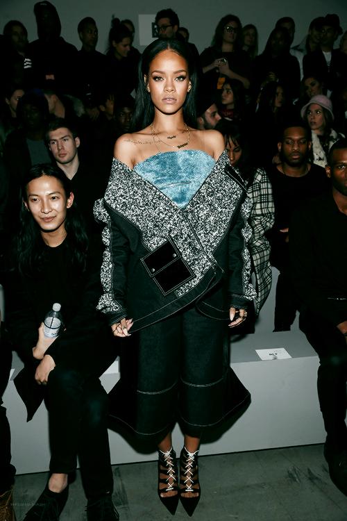 Rih at Kanye West x Adidas Fashion Show
