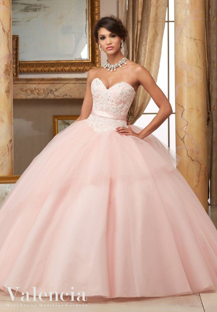 Strapless Lace Quinceanera Dress by