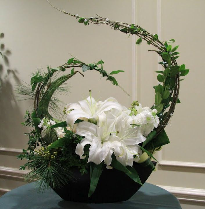 Line Drawings Of Flower Arrangements : Traditional line mass floral design google search
