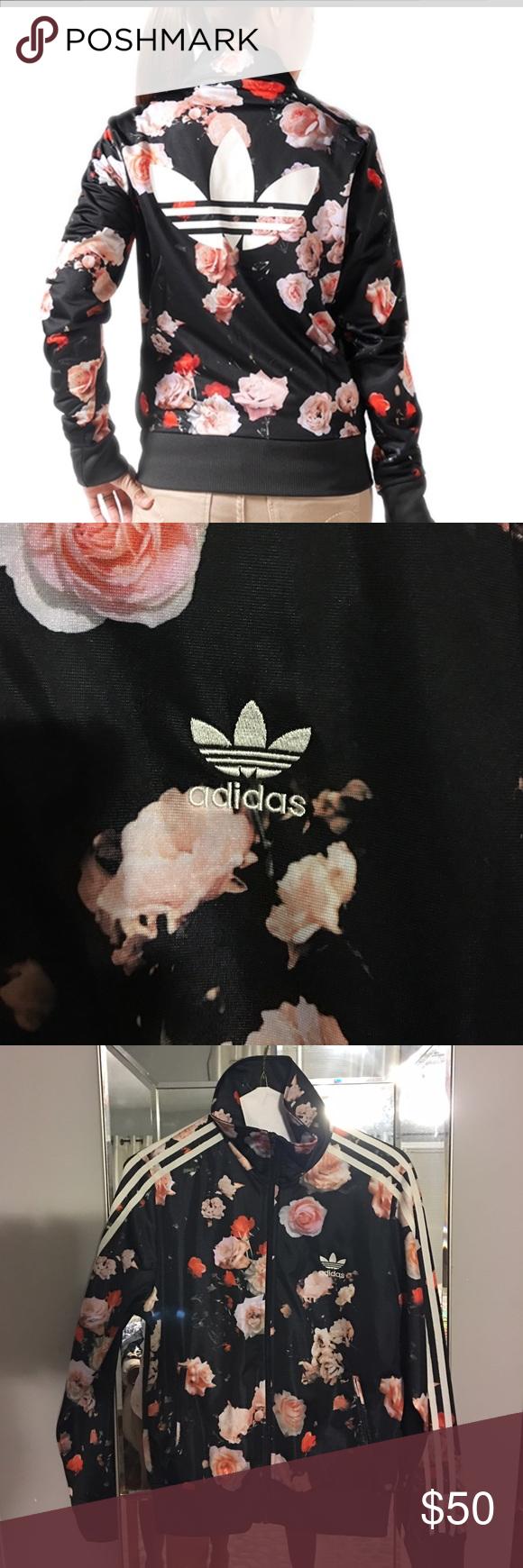 adidas firebird rose flower