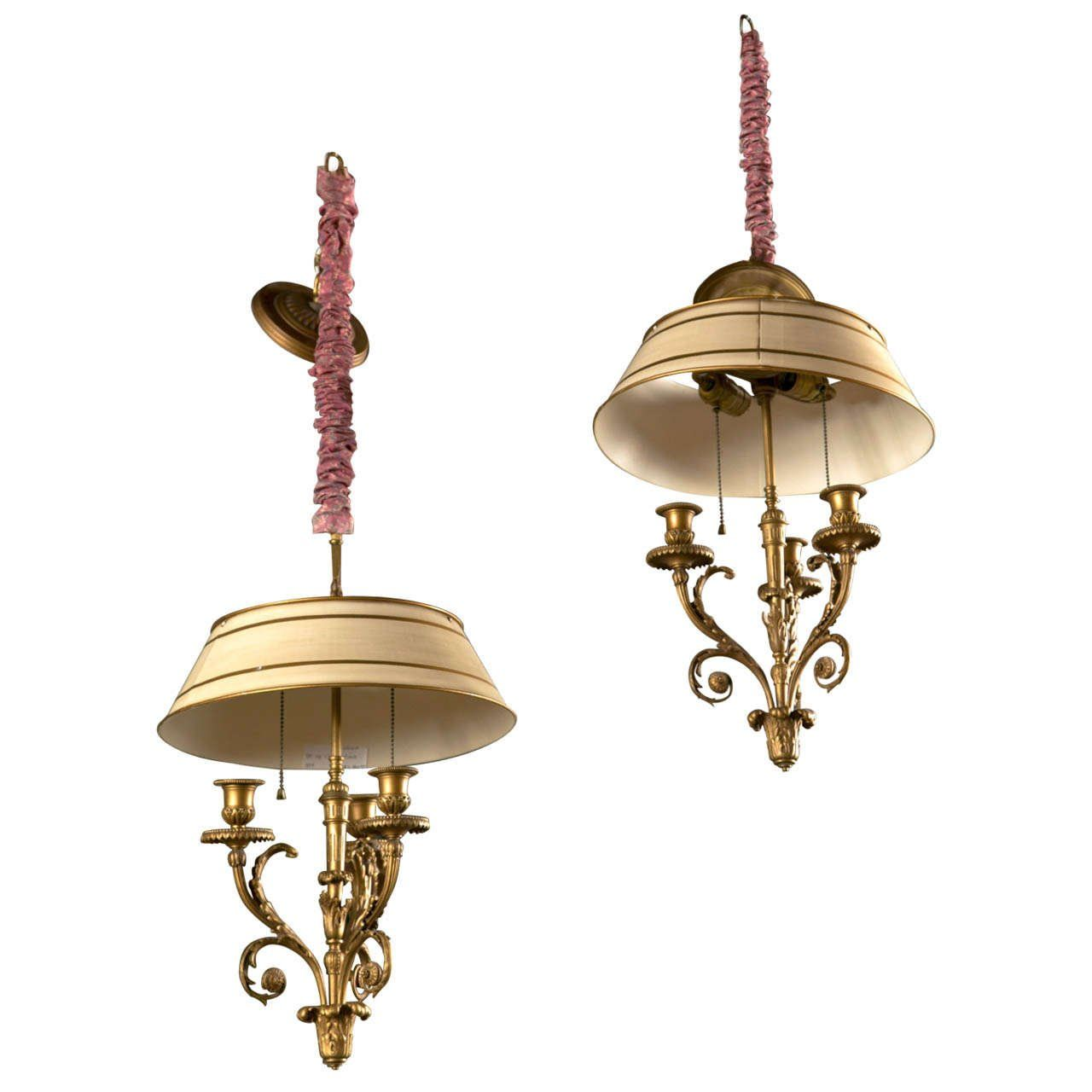 Pair of Bronze Doré Louis XV Style Chandeliers   1stdibs.com