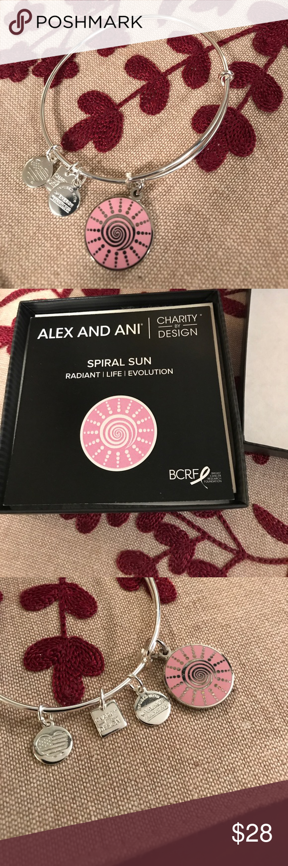 Spiral Sun Alex and Ani Spiral Sun Alex and Ani, NWOT. In perfect condition, box and spiral sun card included Alex & Ani Jewelry Bracelets