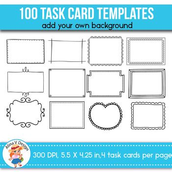 Free Task Card Templates Editable Flash Card Template Card
