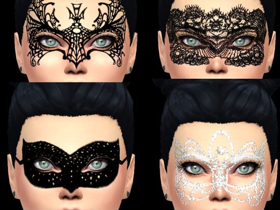 chic elegant mask face for your female Sims