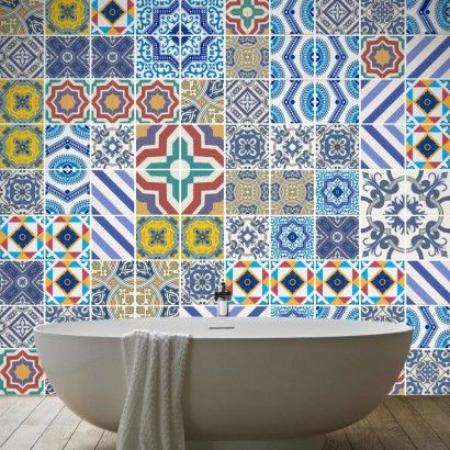 Royal Traditional Tile Decals (Pack of 100)