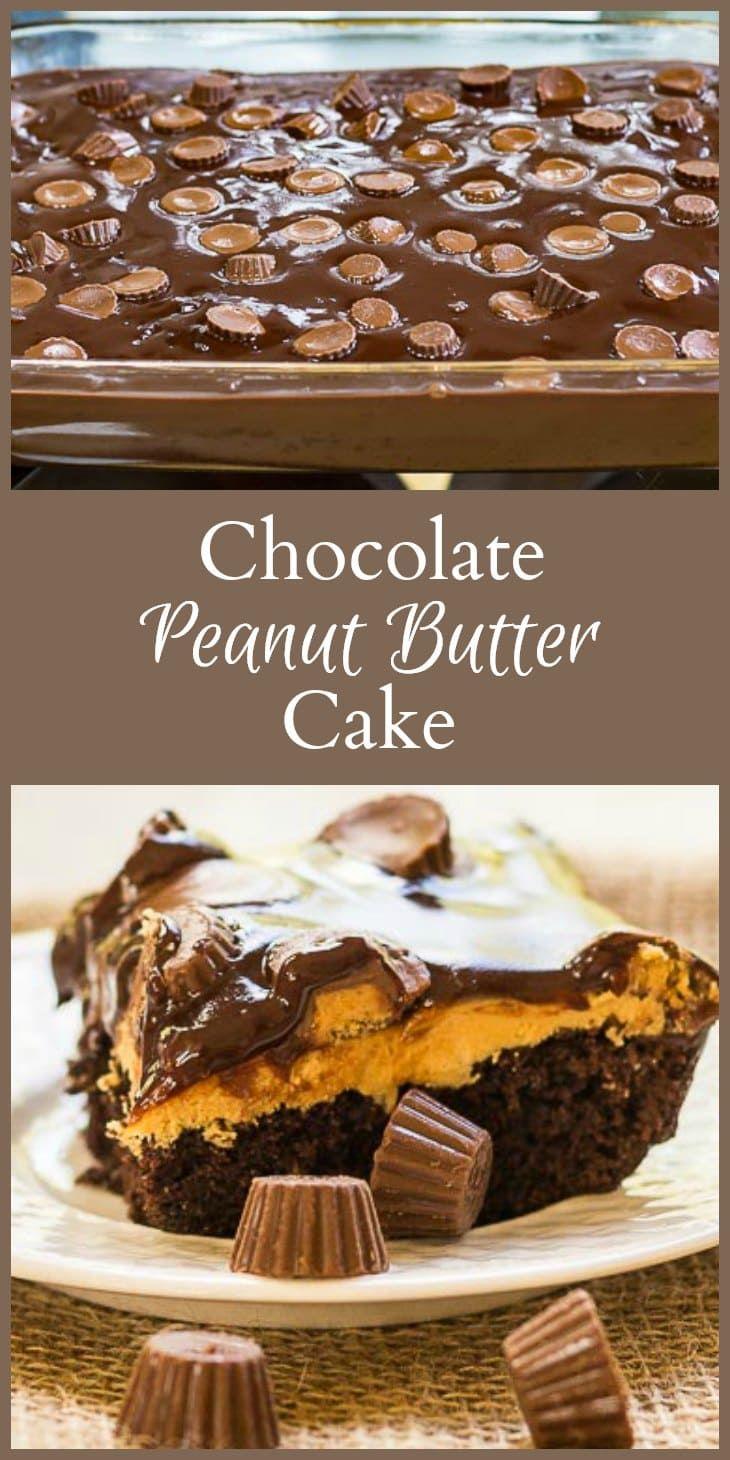Chocolate peanut butter cake recipe chocolate desserts