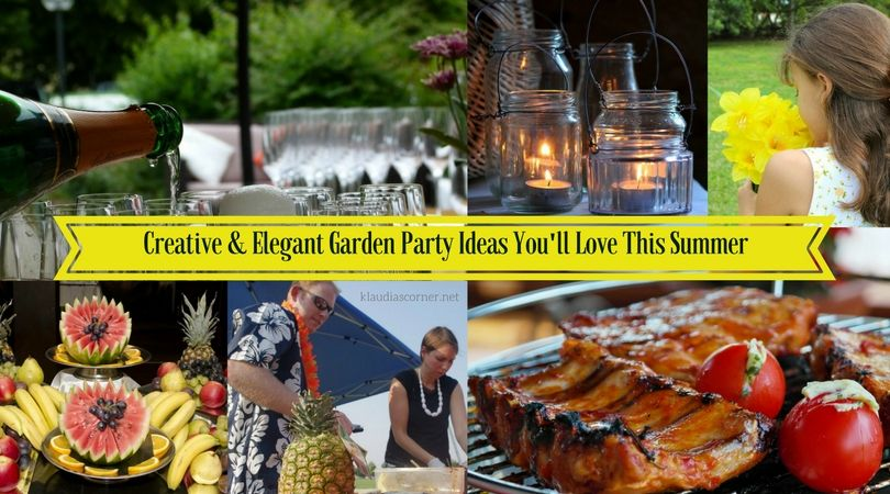 Backyard Party Ideas - Creative and Elegant Garden Party Decorations