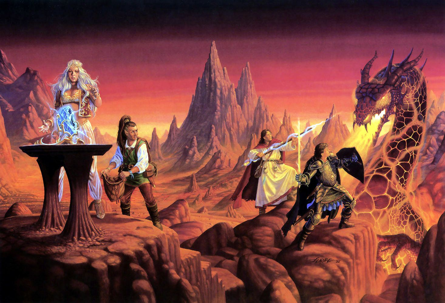 Dragonlance, Chronicles, Dragons of Summer Flame by Larry Elmore.