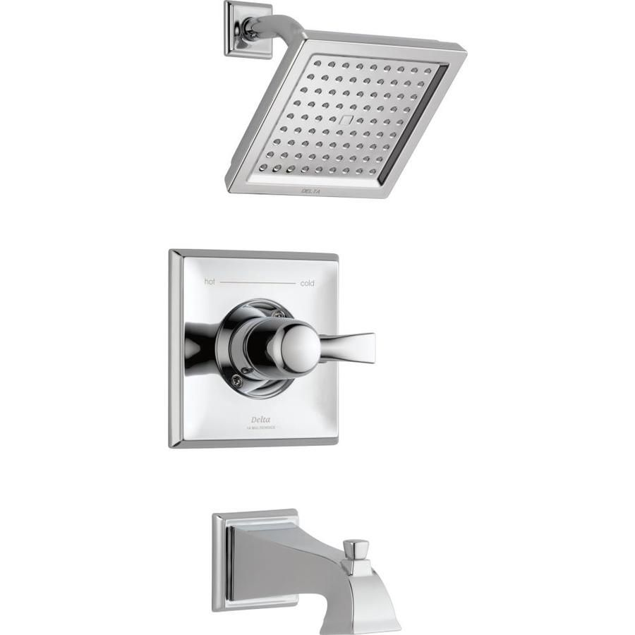 Delta Dryden Chrome 1-Handle Bathtub And Shower Faucet Trim Kit With ...