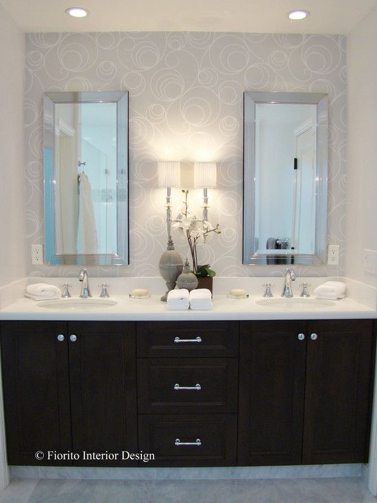 For Master Maybe Add Cabinetry Between Mirrors Master